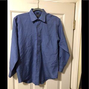 "Versace classic V2 blue dress shirt M 15.5"""